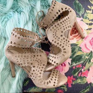 Via Spiga laser cut Elysia heels sz 10M